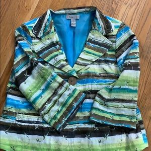Analogy Women's Jacket in size XL yellow green